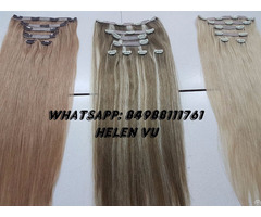 Whosale Full Head Set Clip In Human Hair Extensions High Quality