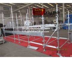 Kwikstage Quick Stage Construction Wedge Lock Modular Scaffolding