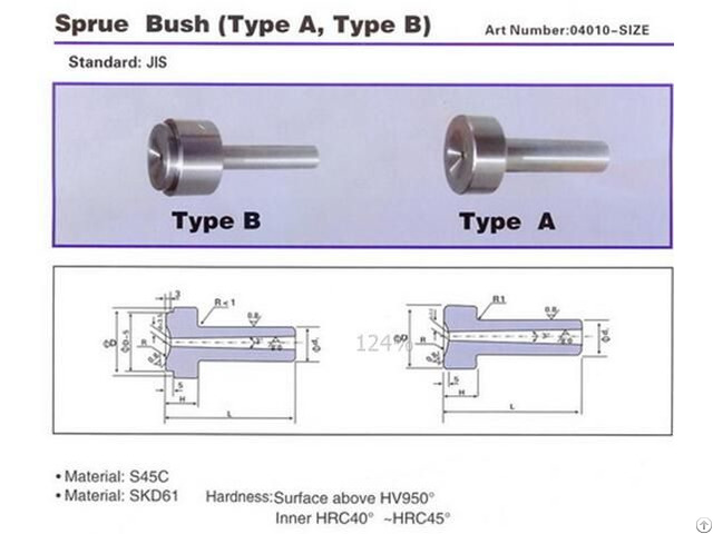 Sprue Bush Skd61 S45c Hardened For Mould