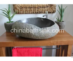 Natural River Stone Bathroom Sinks
