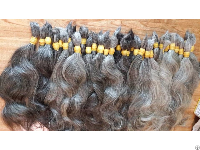 Double Gray Hair Can Bleach No Tangled Shedding Wholesale Price Top Best Quality Supplier