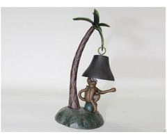 Cast Iron Bell With Monkey