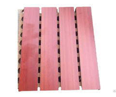 Sound Absorption Grooved Wooden Acoustic Ceiling And Wall Panel