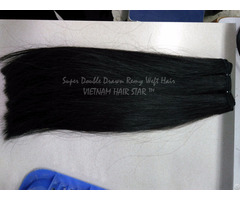 Super Double Drawn Remy Weft Hair Best Factory Price
