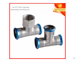 Mapress Tee With Female Thread End Press Fitting For Plumbing System