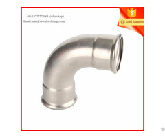 Press Fittings 90 Degree Elbow Stainless Steel 316l Services Drinking Water
