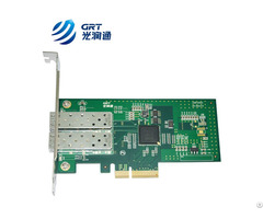 Pcie Gigabit Dual Port Oneway Transmission Device Fiber Optic Ethernet Server Adapter Card Nic
