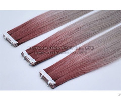 Tape Human Remy Hair Extension Ombre Color