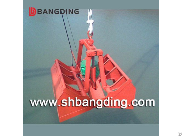 Electric Hydraulic Clamshell Grab Bucket For Ship Bulk Cargo Loading