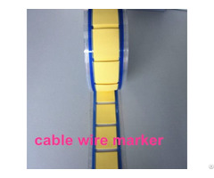 Colorful Military Grade Heat Shrink Identification Cable Marker Printed Tag