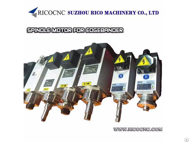 Edgebander Electric Spindle Motors For Edge Banding Machine Pre Milling Trimming