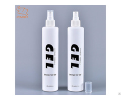 300ml Cylinder Soft Touch Hdpe Plastic Hair Styling Gel Spray Bottle With Sprayer