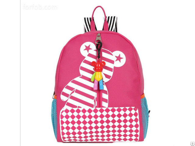 Hot Selling Kids Soft Cartoon Baby Backpack Bear Style School Bag