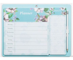 Planner With Magnetic Pad