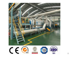 Industrial Continuous Scrap Tyre Pyolysis Production Line