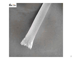 White Flexible Colored Mesh Sleeving