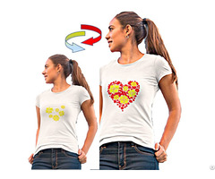 Color Changing Women White T Shirt