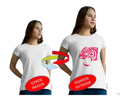Cotton White T Shirt Lion Patterned