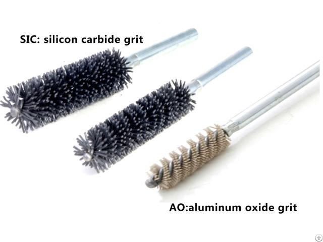 Union Tube Brushes With Shank Double Spiral Abrasive Nylon