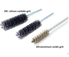 Union Tube Brushes With Shank Double Spiral Abrasive Nylon