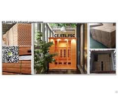 Far Infrared Sauna Room Made Of Hemlock Or Cedar Wood