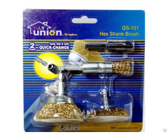 Qs 101:hex Shank Brushes Quick Change Accessory Series