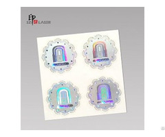 Custom Silver Color Self Adhesive Hologram Label