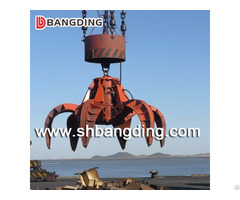 Electric Hydraulic Orange Peel Grab For Scrap Use