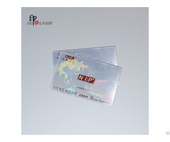 Cold Lamination Adhesive Blank Clear Hologram Sticker For Pvc Cards Security