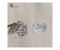 Round Non Removable Hologram Anti Tamper Stickers