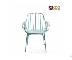Retro Finish French Style Outdoor Arm Chair For Garden Use