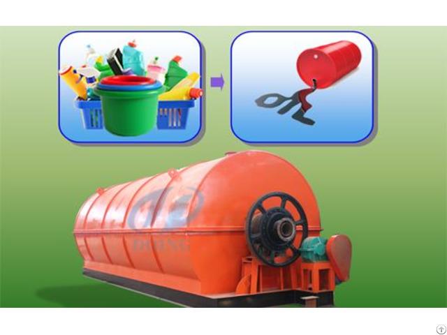 Turning Plastic To Oil Machine
