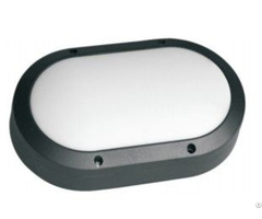 Oval Shape Led Wall Mounted Light Aluminum Housing For Outdoor Lighting Project