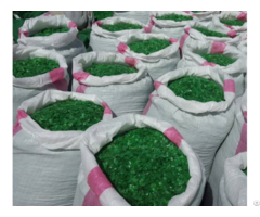 Pet Bottle Grade Flakes Green Color