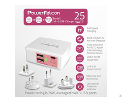 Powerfalcon 25w Smart Qc Usba Usbc Port Charger Interchangable