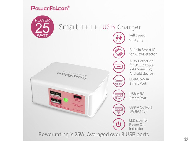 Powerfalcon 25w Muilte Port Charger Foldable