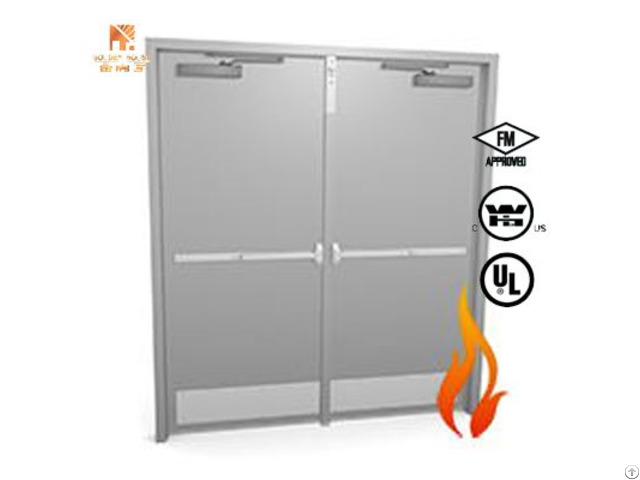 Ul Listed 90 Mins Fire Proof Steel Door