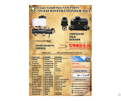 Cosmic Forklift Parts New No 343 Master Cylinder Ass Y