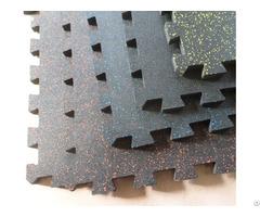 Interlocking Speckled Rubber Tile