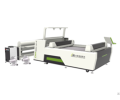 Double Head Asynchronous Leather Laser Engraving Machine For Sale With Vision System