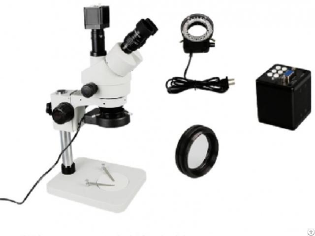 Vga Camera 7 45x Trinocular Stereo Microscope Phone Logic Board Repair