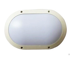 20w Oval Led Bulkhead Lamp Ip65 Impact Resistance Ik10 Aluminum Housing