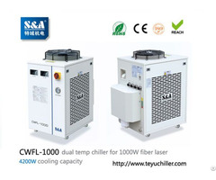 Chiller Cwfl 1000 For Cooling 1000w Fiber Laser Cutting And Engraving Machine
