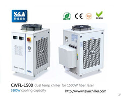 Water Chiller Cwfl 1500 For Cooling 1500w Metal Fiber Laser Machine