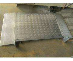 Portable Aluminum Monolithic Ramp Plate