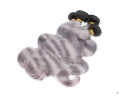 Brazilian 1b Root Grey Hair Straight