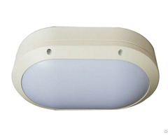 Wall Mounted Led Light Fixture Oval Bulkhead Ip65 Ik10 For Bathroom