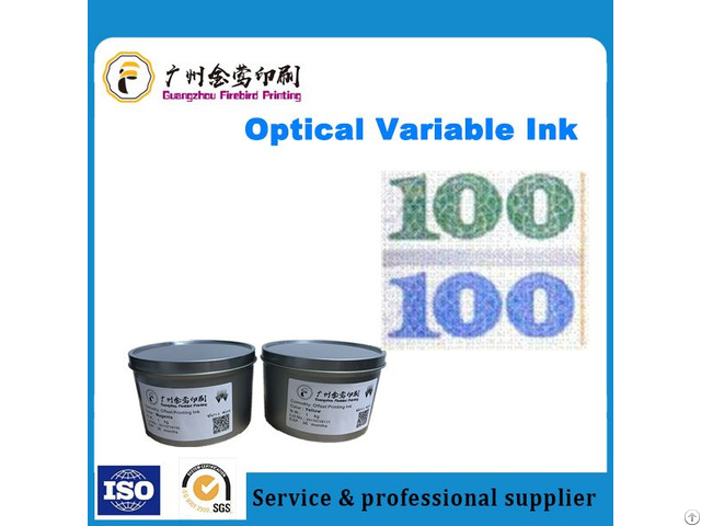 High Performance Optically Variable Ink For Screen Printing