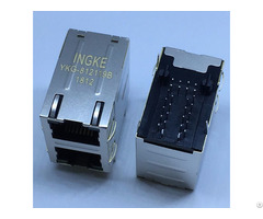 Ingke Ykg 812119b 100% Cross 7499151120 2 Port Through Hole Integrated Rj45 Jacks