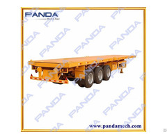 Panda 3 Axles 40ft Flatbed Trailer For Sale